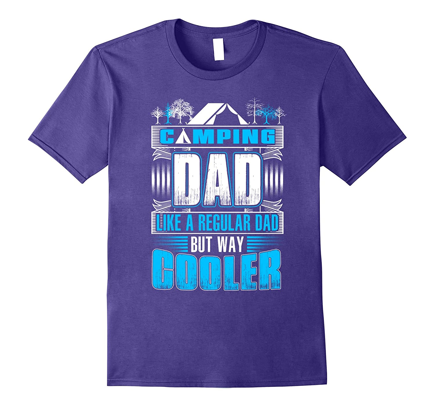 Cooler Camping Dad Funny Tshirt for Daddy Fathers Day Gift-CD