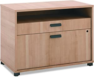 The HON Company Manage File Center with 1 Shelf/ 2 Drawers, 30-Inch, Wheat