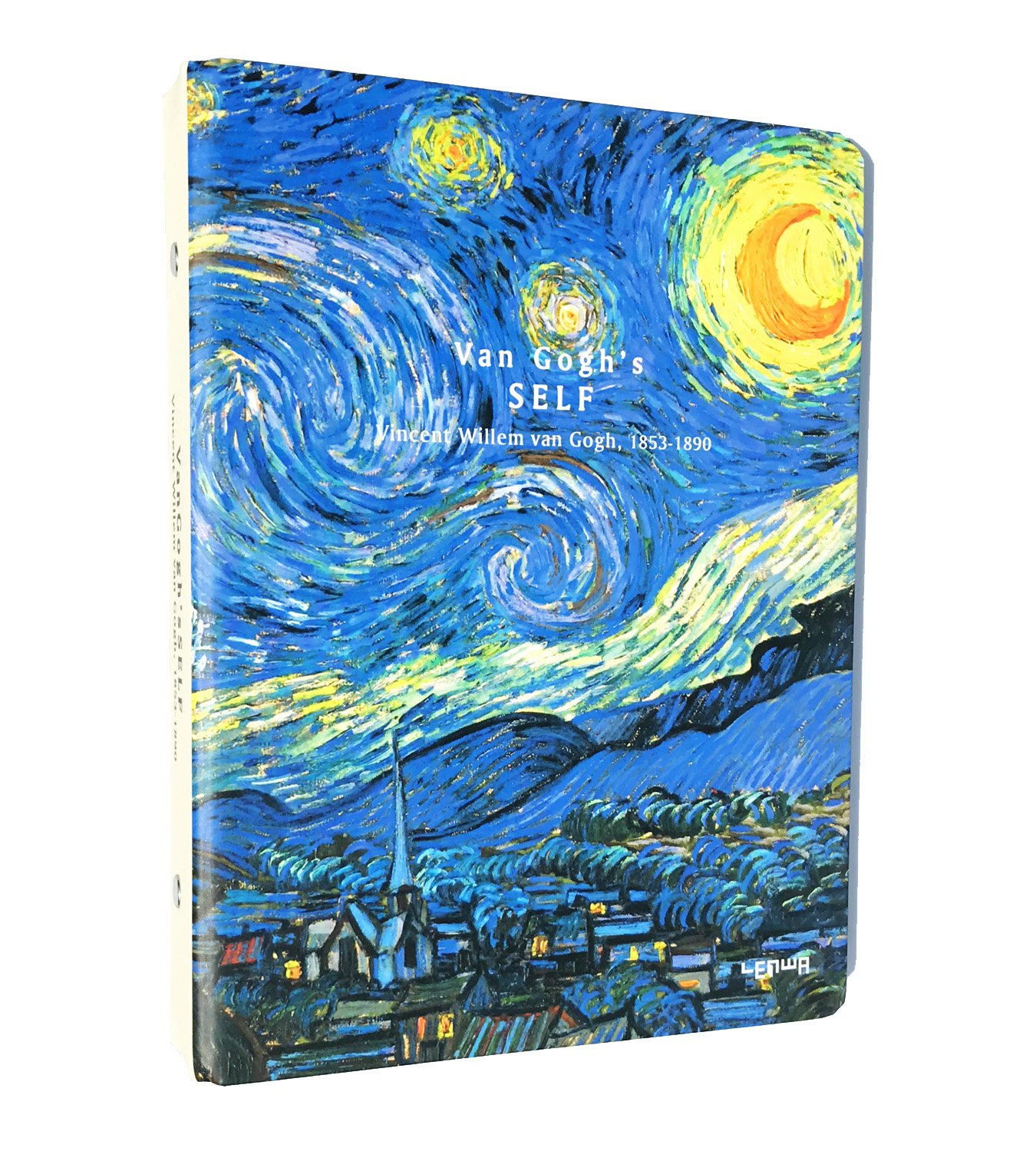 Siixu Van Gogh Spiral Notebook for Men & Woman, Refillable Bullet Journal, College Ruled, 80 Sheets