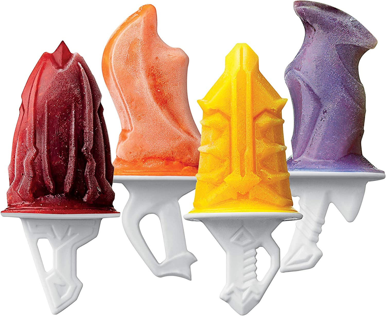 Tovolo Sword Ice Pop Molds Popsicle Maker, Flexible Silicone, Dishwasher Safe, Set of 4