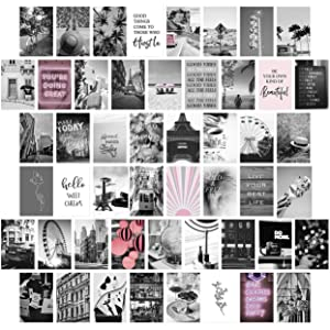 Trendy Wall Collage Kit Aesthetic Pictures, Bedroom Decor for Teen Girls, Wall Collage Kit, Aesthetic Posters, Girls Bedroom Decor, Collage Kit for Wall Aesthetic, Collage Kit (50 PCS 4x6 inch)