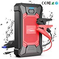 YABER Jump Starter 800A Peak 12000mAh 12V Portable Lithium Car Battery Jump Starter Pack(up to 5.0L Gas, 4.0L Diesel…