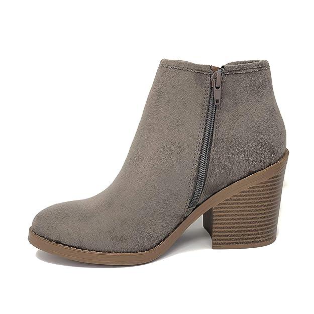 39bac8485232 Amazon.com  SODA Target Women s Chunky Heel Ankle Bootie (8.5 M US ...