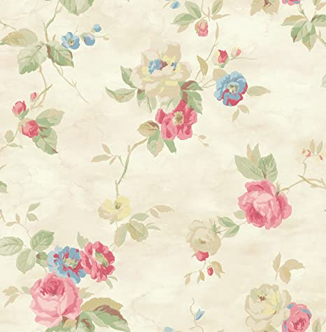 Pink Floral Wallpaper Blue Floral Wallpaper Chinoiserie