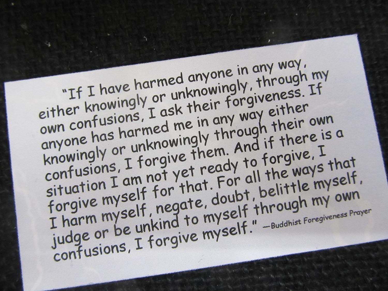 Buddhist Forgiveness Prayer, personalized business cards, calling cards, prayer card, forgiveness prayer