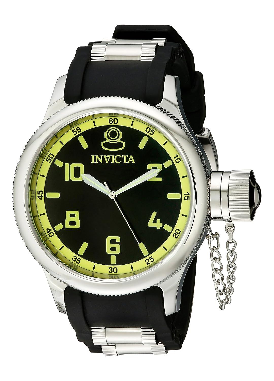 amazon com invicta men u0027s russian diver black dial rubber