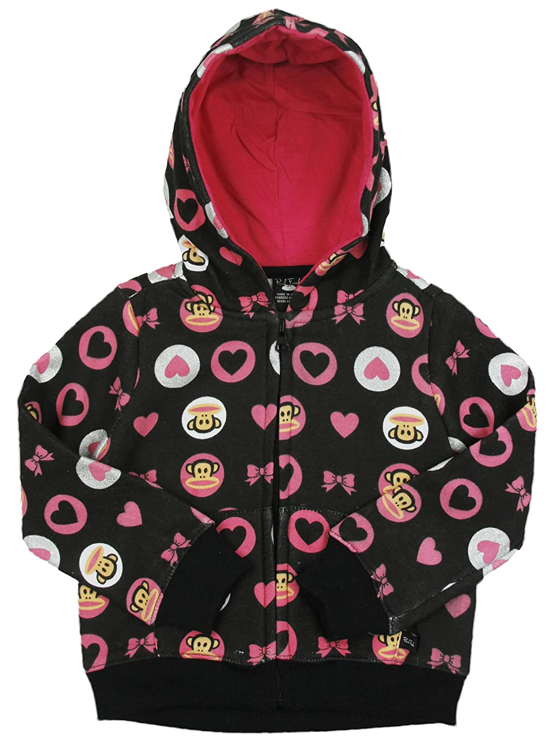 Paul Frank Little Girls' Hearts and Bow Fleece Hoodie JGF4200