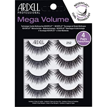 e9a9eefff32 Amazon.com : Ardell Mega Volume 252 4 Pack : Beauty