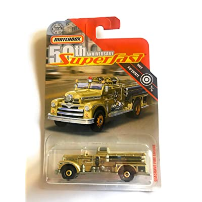 Matchbox 50th Anniversary Superfast 4/6 Seagrave Fire Engine Gold 55/100: Toys & Games