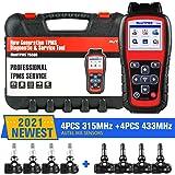 Autel MaxiTPMS TS508K 2021 Newest TPMS Relearn Tool, with 4PCS 315MHz/433MHz Sensors[$240 Value], Upgraded TS501/TS408/TS401