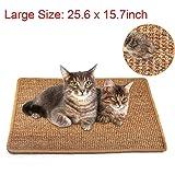 Liyahog Cat Scratcher Mat, Natural Sisal Scratching Pad, Anti-Slip Cat Scratch Rug Sleeping Carpet for Cat Grinding Claws & Protecting Furniture