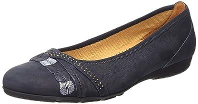 Gabor Shoes Damen Casual Geschlossene Ballerinas, Blau (Ocean), 35 EU