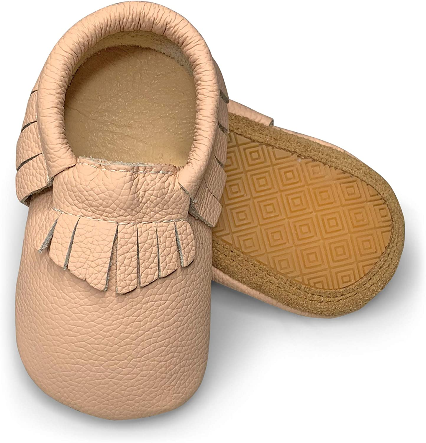 Lucky Love Baby Moccasins Premium Leather Infant, Baby Toddler Shoes for Girls and Boys