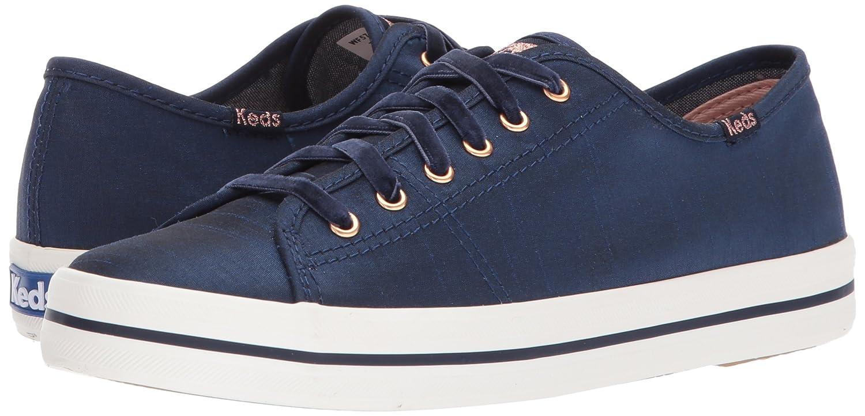 Keds Women's Kickstart Slub Satin Fashion Sneaker B06XN6MJ4Q 9 B(M) US|Navy