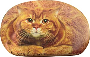 The Paragon Desk Accessory - Office Desk Paperweight, Small Tabby Cat Rock Paper Weight