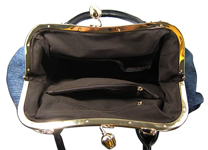 Kaxidy Ladies Girls Womens Denim Handbag Jean Bag Denim Shoulder Bag Shopper Satchel Messenger Tote Bags