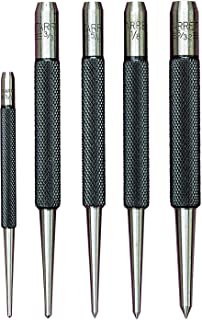 """product image for Starrett S816PC 5-Piece Punch Set, 3 Prick Punches with 5/64""""-5/32"""" Diameters and 2 Center Punches with 1/16"""" and 3/32"""" Diameters, In Plastic Case"""