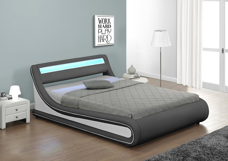 lit coffre avec sommier top majesty lit coffre adulte x sommier gris achat vente lit pas cher. Black Bedroom Furniture Sets. Home Design Ideas