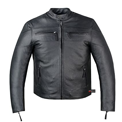 Amazon Com New Men S Armor Touring Motorcycle Leather Cruiser