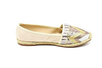 131908897f3eb Oh My Shop SHP74C   Espadrilles Textile et Décor Sequins Style Mosaïque avec  Semelle Renforcée - Mode Femme  Amazon.fr  Chaussures et Sacs