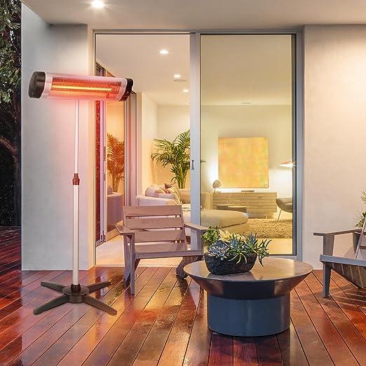 Blumfeldt Rising Sun • radiador infrarrojo • elemento calefactor de carbono • emisión de calor dirigida • ajuste de altura de 70 cm • soporte trípode • 850 ...