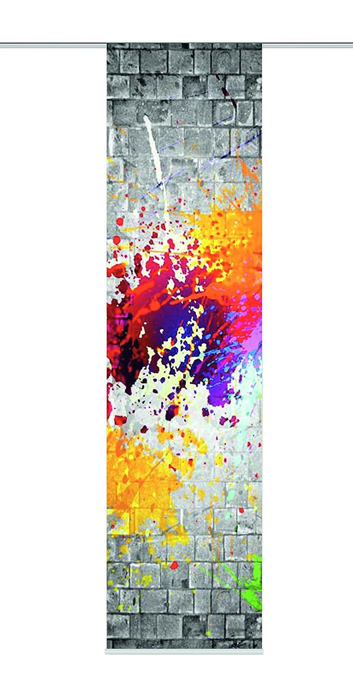 Home fashion 87775-707 - Tenda a pannello, 245 x 60 cm, modello Manaus, stampa digitale, decortativa, rossa 87858-704 multicolor H:245 x B:60 cm