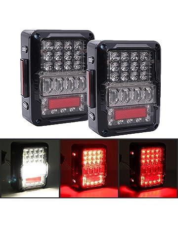 DOT Approved 4D LED Tail Lights for 2007-2017 Jeep Wrangler JK Brake Reverse Light
