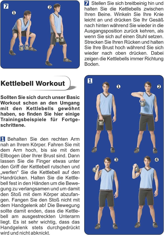 Cast Iron schwarz Bad Company Kettlebell I Gusseisen Kugelhantel in verschiedenen Gewichten I Schwunghantel Workout