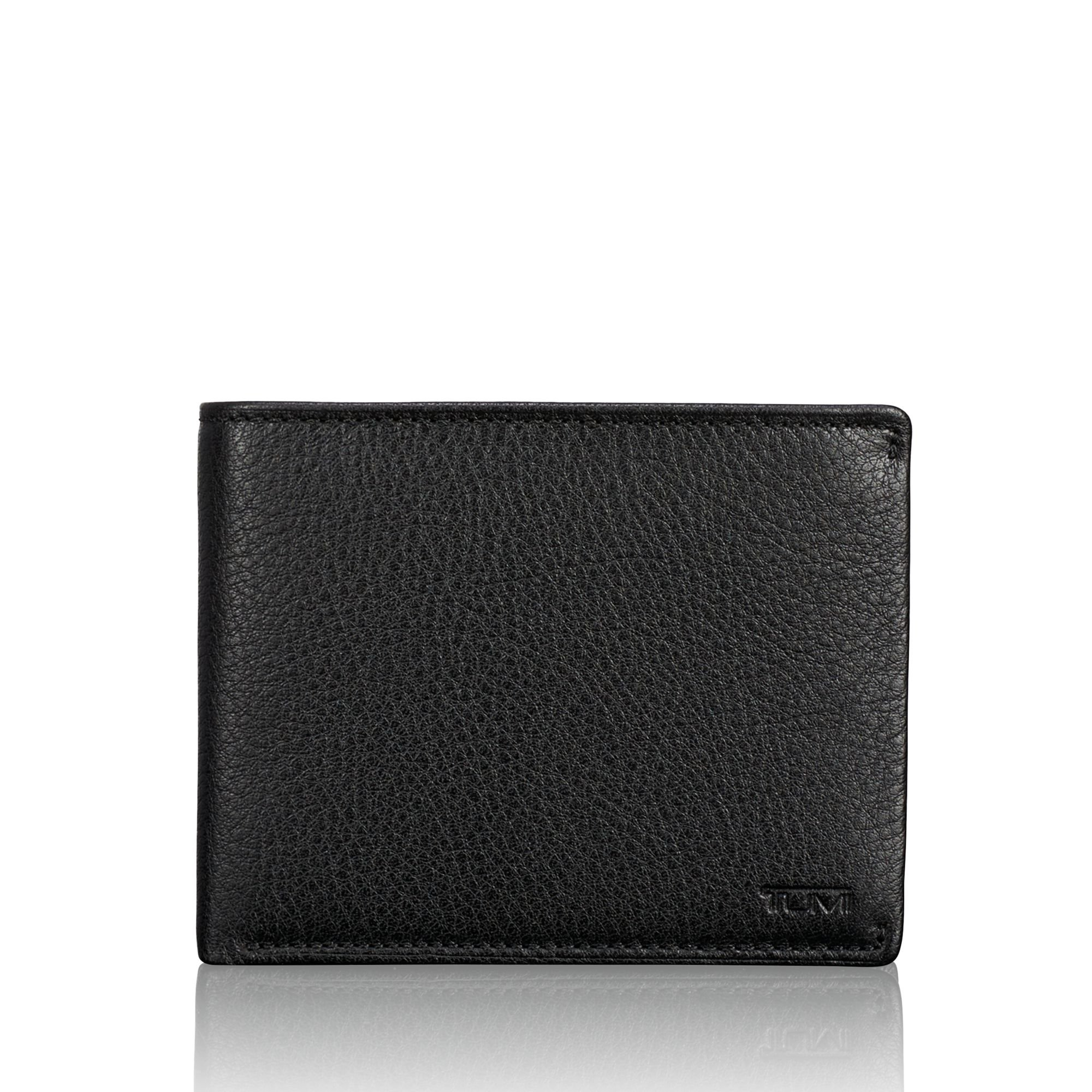 Tumi Mens Nassau Global Wallet with Coin Pocket Black Textured One Size