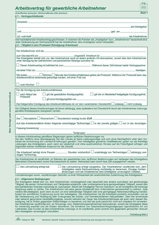 Arbeitsvertrag A4 Sd 2x2bl 25st Amazonde Küche Haushalt