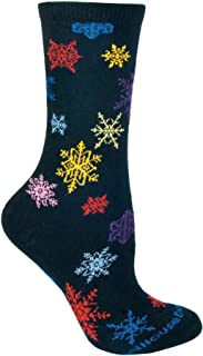 product image for Wheel House Designs Colorful Snowflakes Womens Argyle Socks (Shoe size 6-8.5)