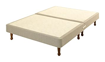Comfy Beds Small Single Divan Base Only On Legs 2 Ft Beige