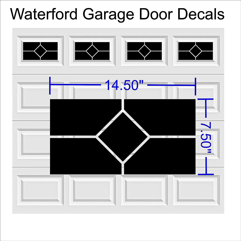 Waterford Faux Fenster Garage Tür Vinyl Aufkleber für 8 x 15 & UP ...