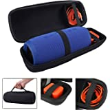 LuckyNV Charge 3 Case,Waterproof Portable Storage Hard Case for JBL Charge 3 Bluetooth Wireless Speaker.Fit USB Cable and Charger Black