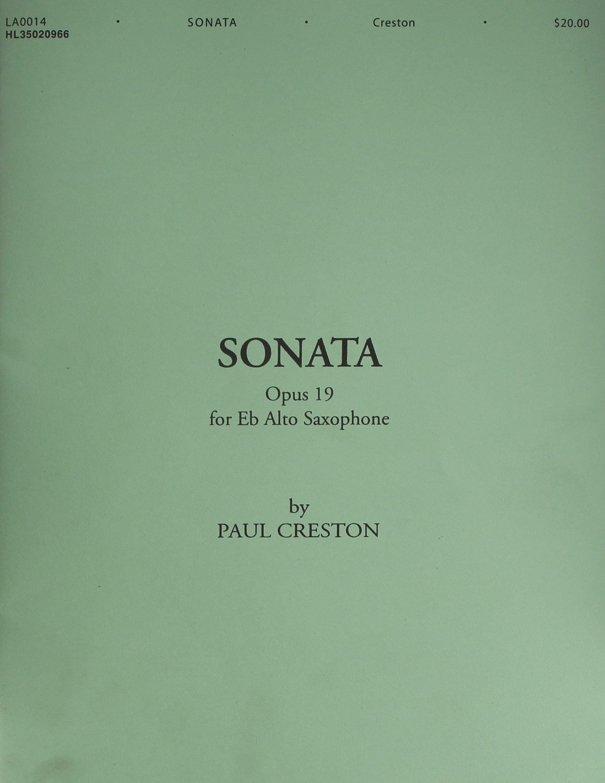 Amazon Com Sonata Op 19 For E Flat Alto Saxophone 9781617805707