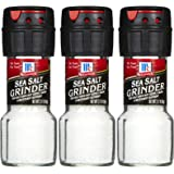 McCormick Sea Salt Grinder, 2.12 oz, 3 pk