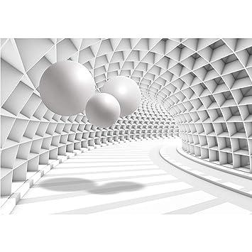 Tunnel Kugel Tapete Wandbilder XXL Vlies Fototapete 3D Wohnzimmer