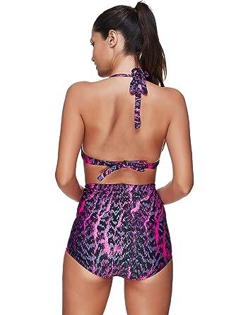 Bikini de Cintura Alta Bikini de Dos Piezas Traje de baño ...