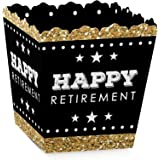 Happy Retirement - Party Goodie Favor Boxes - Retirement Party Treat Candy Boxes - Set of 12