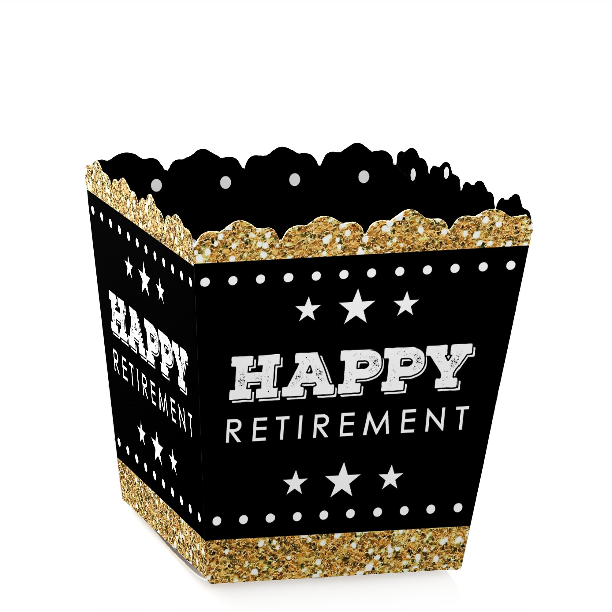 Big Dot of Happiness Happy Retirement - Party Mini Favor Boxes - Retirement Party Treat Candy Boxes - Set of 12 by Big Dot of Happiness (Image #1)