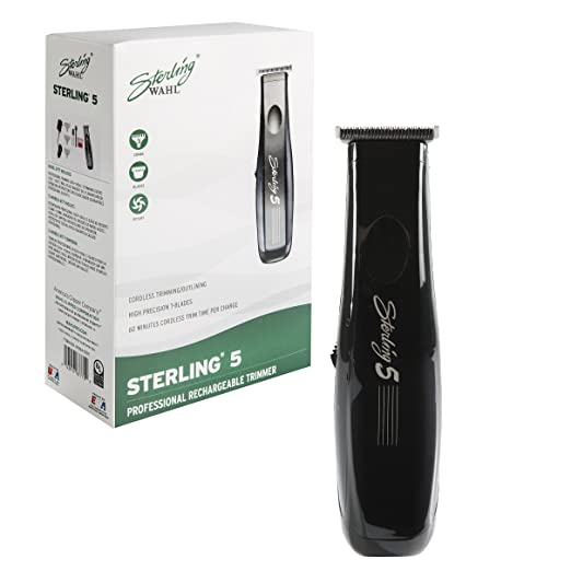 Amazon.com: Wahl Professional Sterling 5 Trimmer #8777 – Great for Professional Stylists and Barbers –Rechargeable rotary motor trimmer with NiMH battery: ...