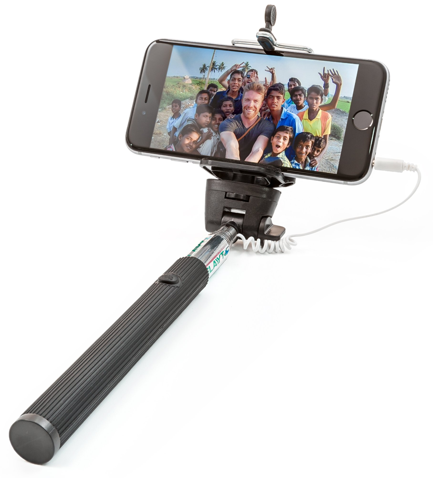 Selfie Stick Set- Sticks Perfect with GoPro iPhone X 8 8Plus 7 7Plus 6 6Plus 5 5s 5c 4 Samsung Galaxy 8 s8 Plus s7 Edge 6 s6 5 4 4s Cellphone & Camera eg Canon DSLR Sony Nikon-Black by Elayyt