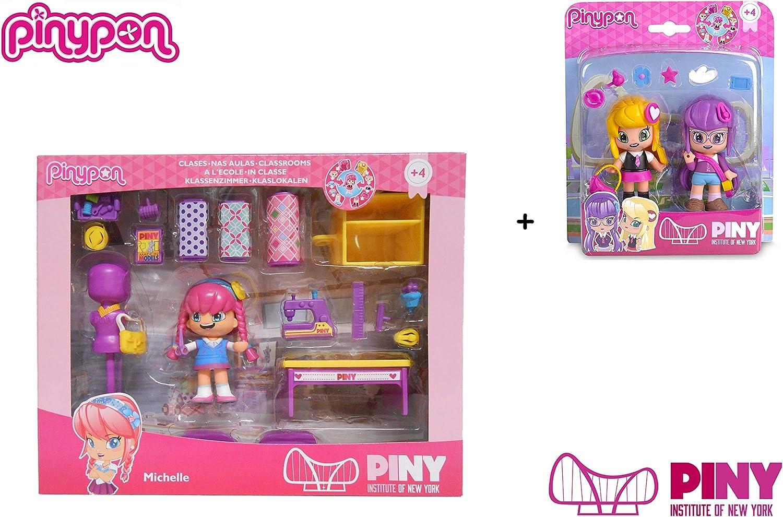 Amazon.es: Famosa PinyPon - Pack Pinypon Clase de Costura Michelle (700014143) + Blister 2 Personajes Lilith y Julia (700012915): Juguetes y juegos