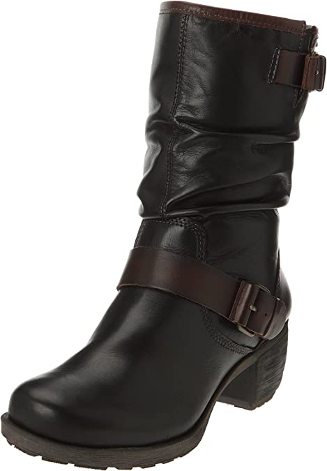 Pikolinos Le Mans 838-9232 Lead Womens Leather Zipper Laced Mid-calf Ankle Boots
