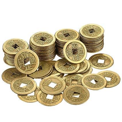 b7618cb6b2 Hestya 1 Pollice Monete Cinese di Fortuna Feng Shui I-Ching Monete Cinese  Buona Fortuna Monete Antico Cinese Dinastia Tempo Moneta (100): Amazon.it:  Casa e ...