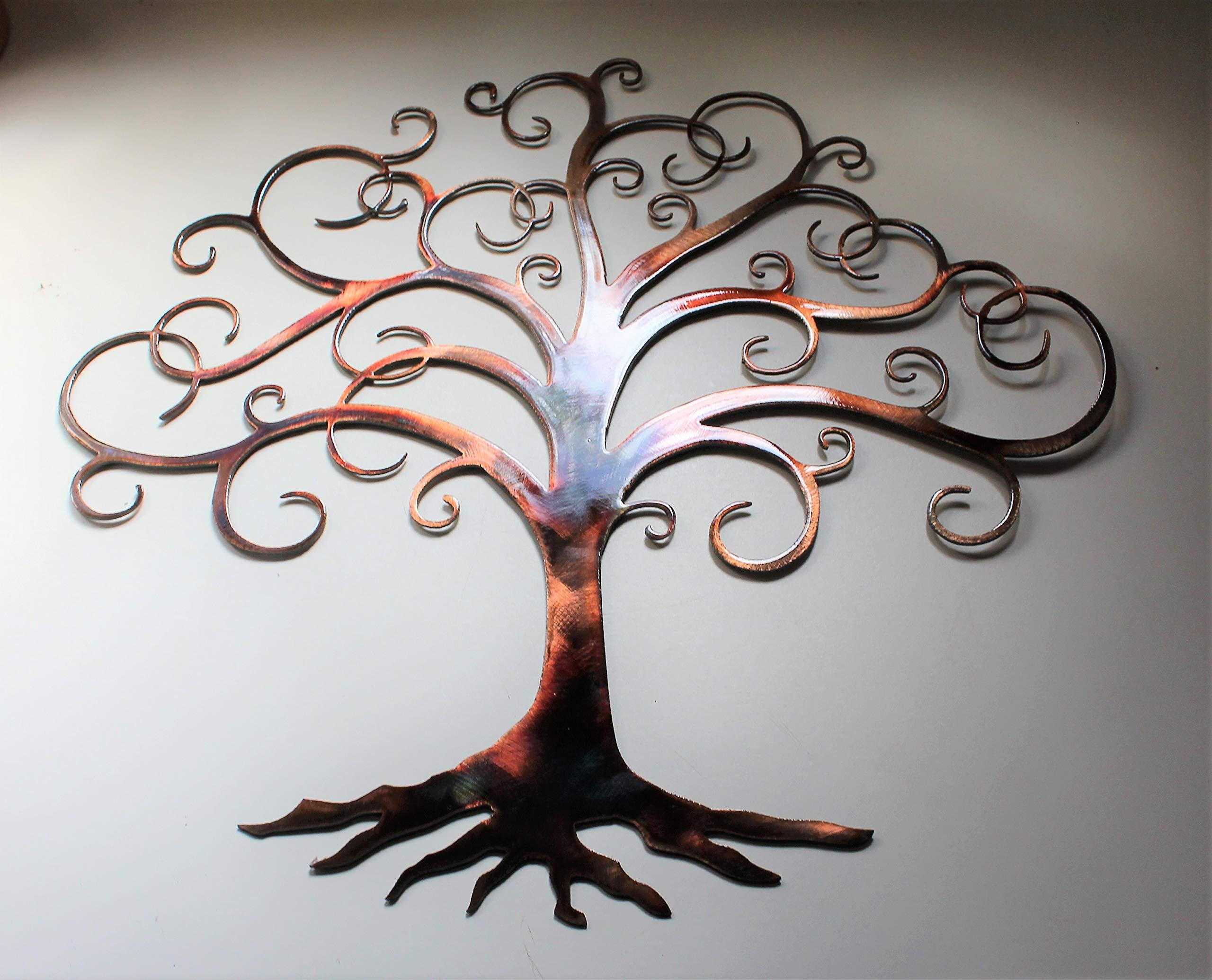 Swirled Tree of Life Metal Wall Art