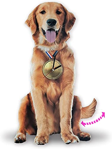 Golden Retriever Pendulum Wall Clock