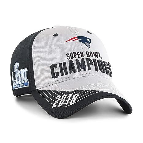 size 40 91ba9 aa038 Amazon.com   OTS NFL New England Patriots Super Bowl LIII Champions Hubris  All-Star Adjustable Hat   Sports   Outdoors