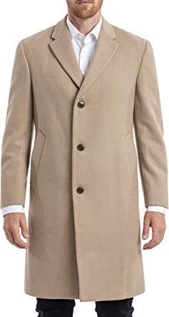 Chaps Mens Long Classic Topcoat Camel 48L