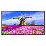 120 inch Portable Movie Screen, FLOVEA 16:9 Home theater projector screen , Outdoor Indoor Movie Screen, High Contrast, DIY Projection Screen with No Stretching Required